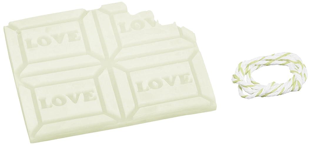 潜在的な艶ブラウスGRASSE TOKYO AROMATICWAXチャーム「板チョコ(LOVE)」(GR) レモングラス アロマティックワックス グラーストウキョウ