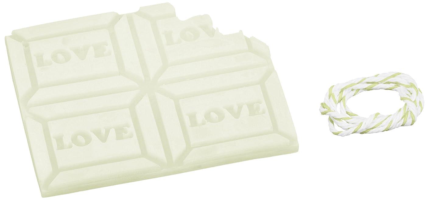 ラショナルどんよりした真鍮GRASSE TOKYO AROMATICWAXチャーム「板チョコ(LOVE)」(GR) レモングラス アロマティックワックス グラーストウキョウ