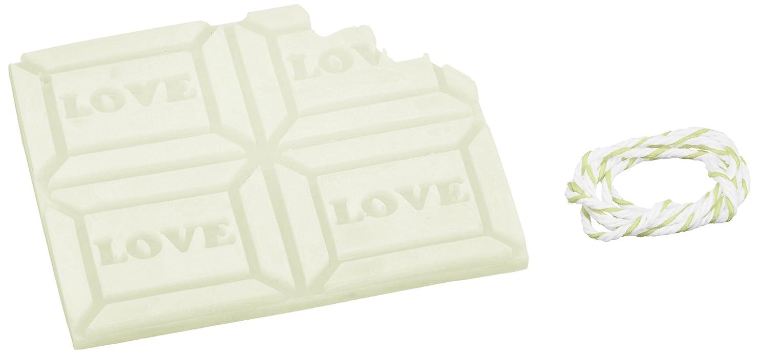うっかりシロクマハイライトGRASSE TOKYO AROMATICWAXチャーム「板チョコ(LOVE)」(GR) レモングラス アロマティックワックス グラーストウキョウ