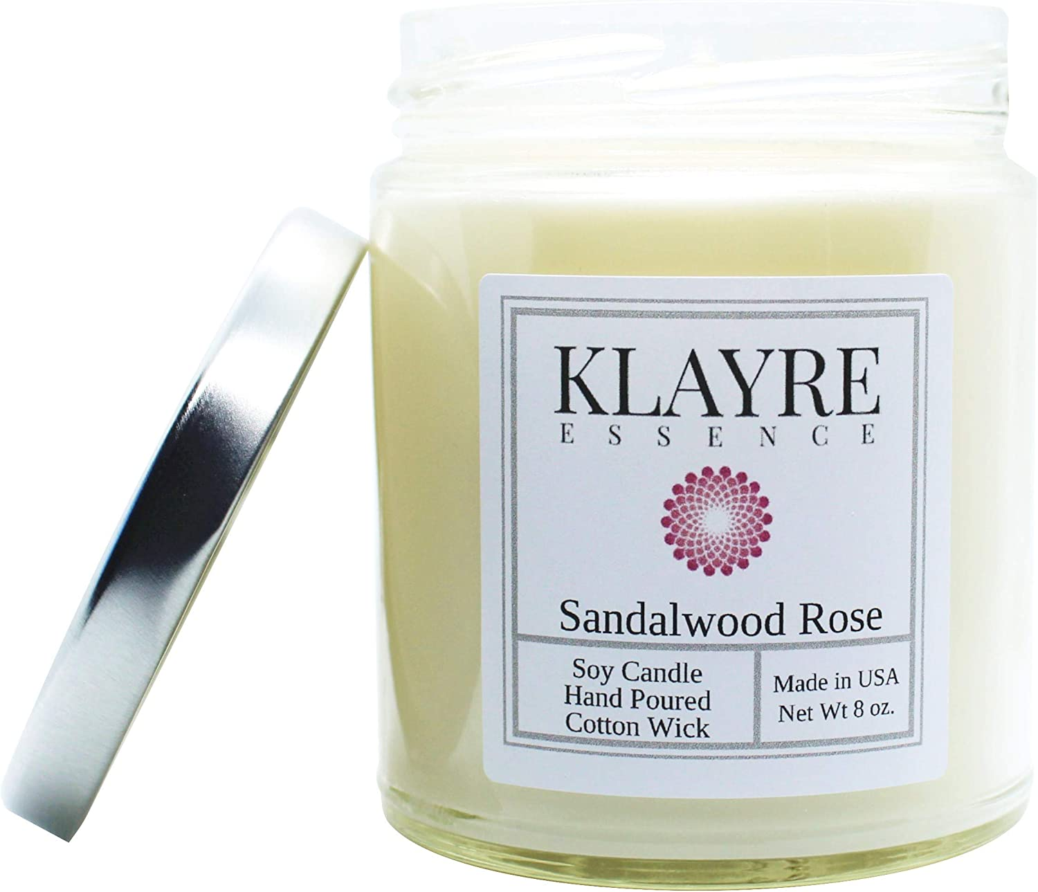 Eucalyptus Spearmint Scented Soy Candle Home Fragrance |Long Lasting 8 oz Jar Klayre Essence Hand Poured in the USA. Aromatherapy /& Relaxation
