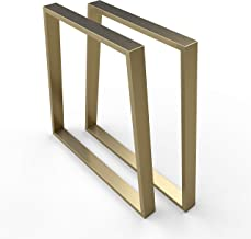 sossai® stalen trapeziumvormig tafelframe | TKG6 | Kleur: GOUD | Tafellopers/tafelpoten | 2 stuks | Breedte 70 cm (50 trap...