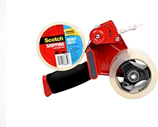 """Scotch Packaging Tape Dispenser with Heavy Duty Shipping Packaging Tape, 2 Rolls, Designed for Standard 3"""" Core Rolls, Foa..."""