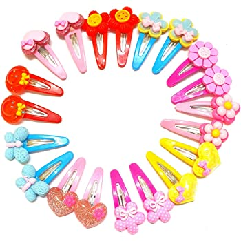 ANNA CREATIONS baby girl hair tic tac clips clutcher hair accessory set 12 PCS -multi-coloured