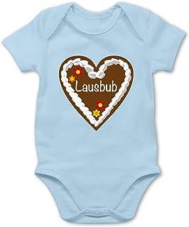 Shirtracer Lebkuchenherz Lausbub - Baby Body Kurzarm für Jungen und Mädchen