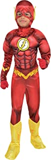 Costumes USA DC Comics: The New 52 The Flash Muscle Costume for Boys, Includes a Padded Jumpsuit and a Mask