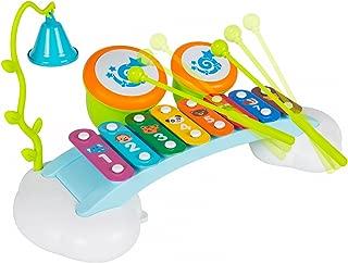 Xilófono Liberty Imports piano arco iris para niños con campana y tambores