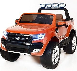 電動乗用玩具 FORD RANGER フォード レンジャー NEWモデル4WD(オレンジ)二人乗り可能 4モーター&12V10AHバッテリー!