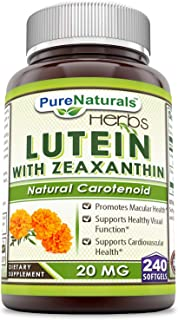 Pure Naturals Lutein Softgels, 20 mg, 240 Count