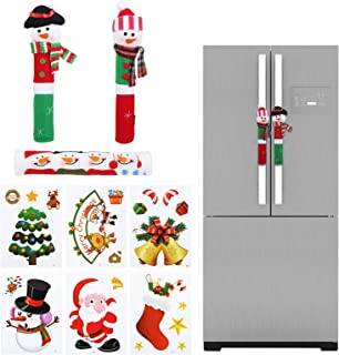 GWHOLE Christmas Handle Covers 4 Pack of Refrigerator Door Handle Cover Microwave Oven Dishwasher Door Handle Proctor Cove...