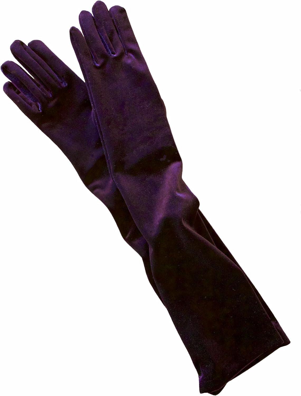 Dents Womens Long Velvet Shoulder Length Evening Gloves - Amethyst