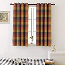 Room Darkening Curtains tartan seamless pattern background autumn color panel plaid tartan flannel shirt patterns t image grommet Decorative Curtains For Living Room (2 Pieces, 42