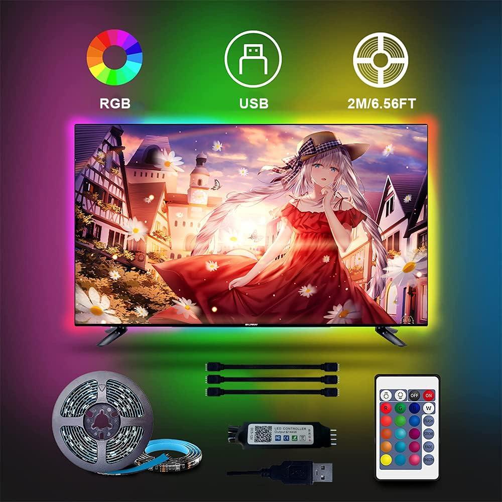 TV Light Kit 6.56ft Spring new work Led Max 67% OFF for Strip 40 USB Backlight