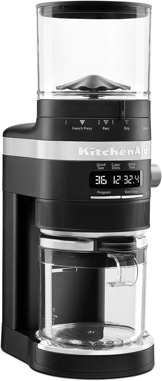 KitchenAid Challenge the lowest price of Sale special price Japan KCG8433BM Burr Coffee Grinder 10 Matte Black oz