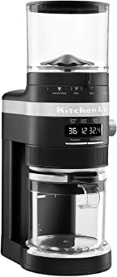 KitchenAid KCG8433BM Burr Coffee Grinder, 10 oz, Black Matte