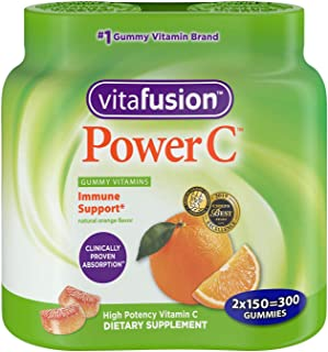 Vitafusion Power C, Gummy MsXeQF Vitamins for Adults, 150 Count (Pack of 2)
