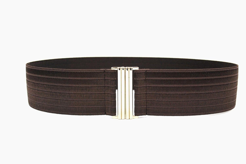Bell la bell Women's Stretch Elastic Waist Belt gold Buckle Cinch