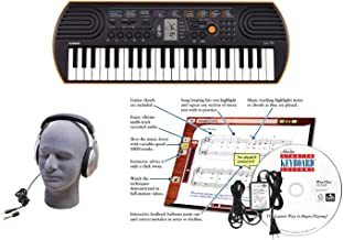 Casio SA-76 EDP Personal Keyboard Package with Closed-Cup He