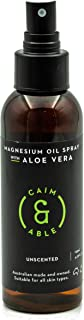 Caim & Able Magnesium Oil Spray Bottle with Aloe Vera 125ml - Less Itchy for Sensitive Skin - Australian Made Pure Amazing...