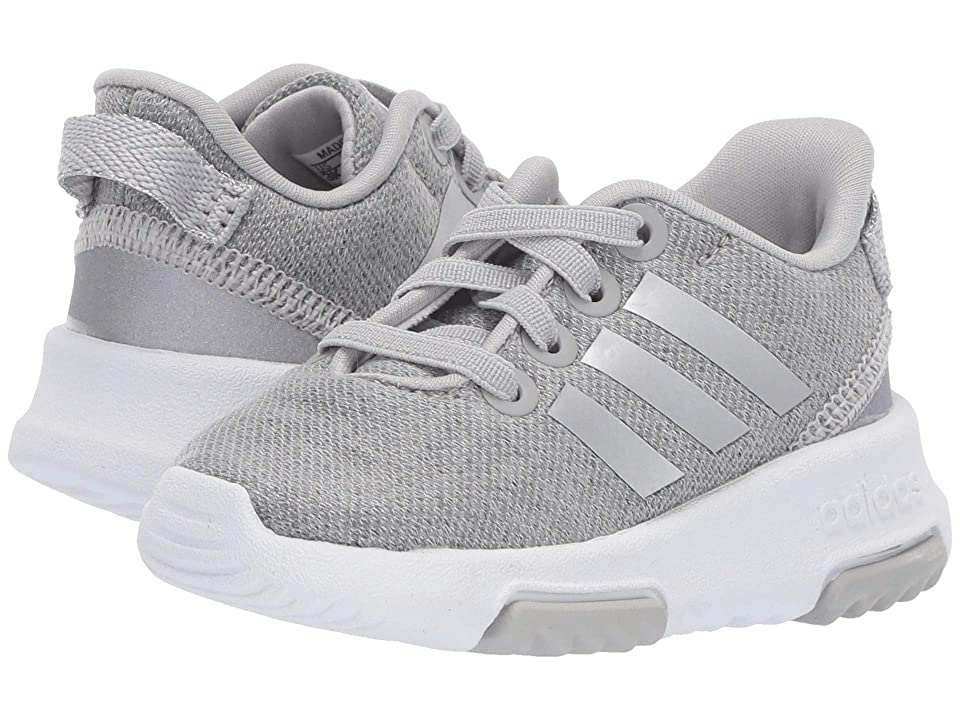 adidas Kids Cloudfoam Racer TR (Infant/Toddler) (Grey Two/Silver Metallic/Footwear White) Kids Shoes
