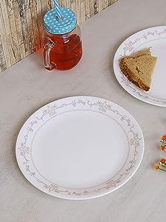 Corelle Imperial Glass Dinner Plate Set, 26 cm, 6-Piece, Multicolour