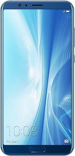 "Honor View 10 Smartphone, Blu, 4G LTE, 128GB Memoria, 6GB RAM, Display 5.99"" FHD+, Doppia Fotocamera 20+16MP [Italia]"
