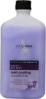 Everyday Isle of Dogs Lush Coating, Violet + Sea Mist Dog Conditioner for Dry, Damaged and Shedding Hair, 16.9oz