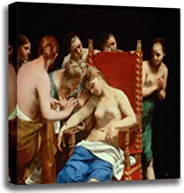 Canvas Print Wall Art - The Death of Cleopatra - Guido Cagnacci, Called Guido Canlassi - Giclee Printed on Stretched Gallery Wrap - 16x14 inch