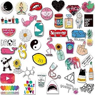 Girls Stickers - 45pcs Cute Pink Lovely Stickers for Personalize Water Bottle Car Helmet Skateboard Luggage Bike Bumper Notebook Laptop Waterproof Graffiti Decals (De-Lovely)