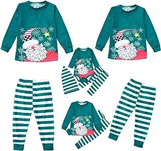 Navidad Familia Ropa a Juego Manga Larga Ropa de hogar papá mamá niños bebé Pijama Conjunto