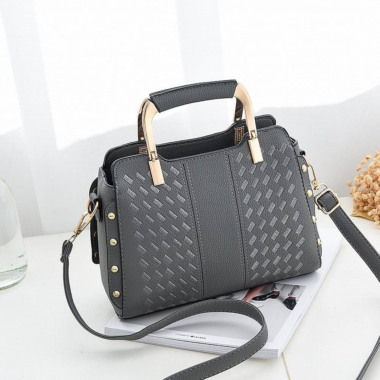 YTTY Weibliche Handtaschen Stickerei Tasche High-End-Bulk Messenger Messenger Bag, grau