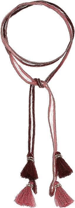 Dip-Dye Necktie with Tassels