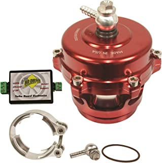 BD Diesel 1047251SR Turbo Guard Blow-Off Valve Kit Red Valve Incl. Aluminum Adapter/Electronics/Hardware Turbo Guard Blow-Off Valve Kit