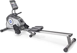 Marcy Foldable 8-Level Magnetic Resistance Rowing Machine with Transport Wheels