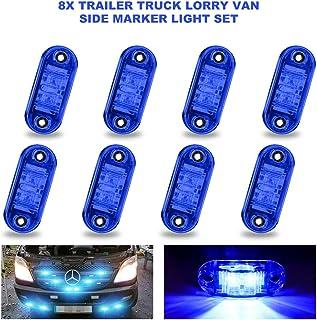 8 szt. LED boczne światła obrysowe, biqing LED pozycyjne światła boczne niebieski boczny błotnik znacznik zespół 12 V/24 V...
