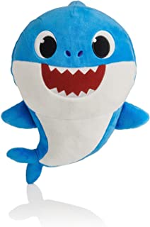 BabyShark Singing Plush - Music Sound Baby Shark Plush Doll Soft Baby Cartoon Shark Stuffed & Plush Toys Singing English Song For Kids Gift Children Girl - Blue Color