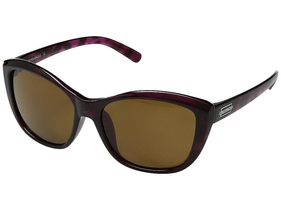 SunCloud Polarized Optics Skyline (Purple Tortoise/Polarized Brown Polycarbonate Lens) Sport Sunglasses