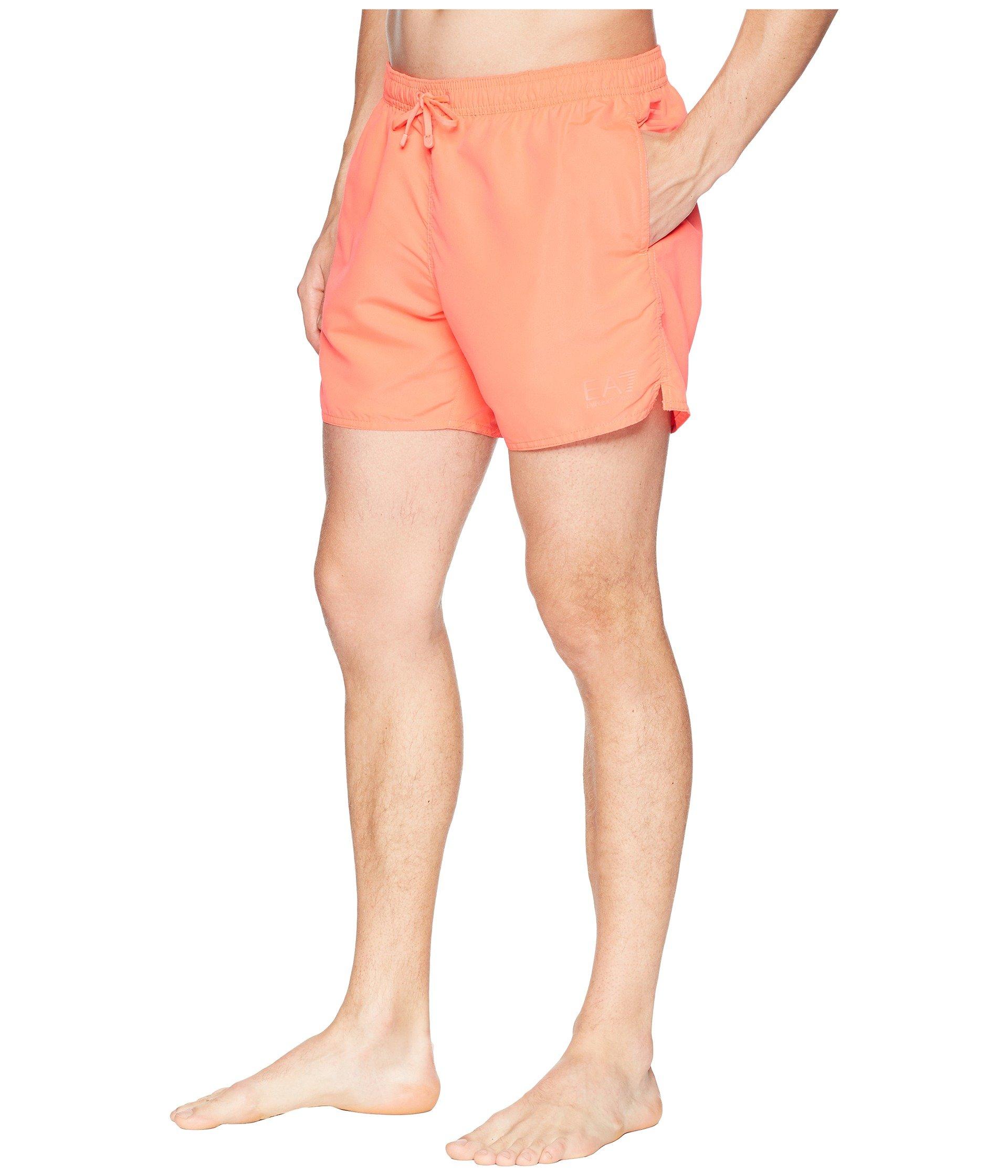 Shorts Rosso Emporio Boxer Fluo Swim World Armani Ea7 Sea vRw0v