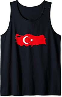TURKEY - Country Outline & Flag Tank Top