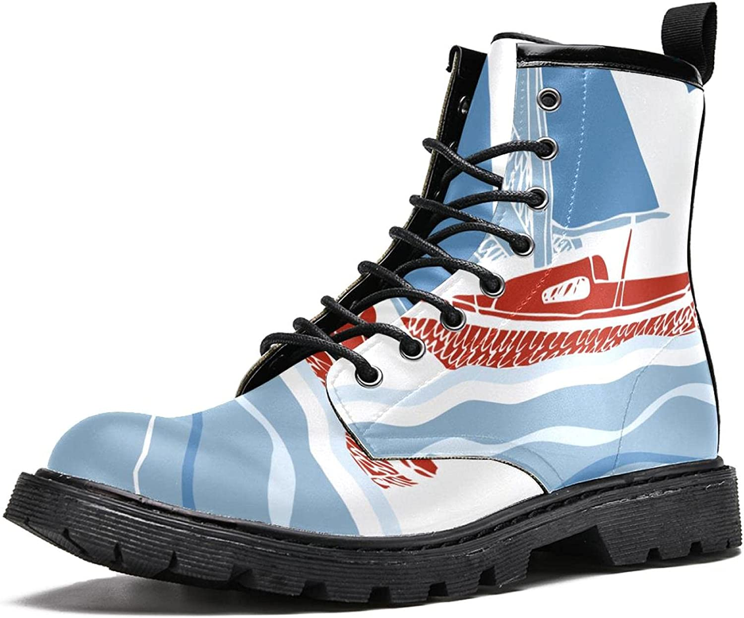 Max 71% OFF Cartoon Spring new work sailboat Women's Stylish High Top Du Boots Hiking