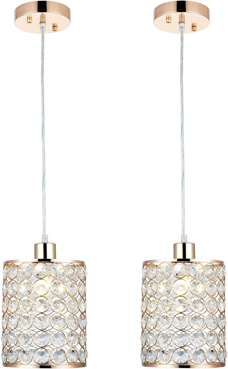 MonDaufie 2 Popularity Pack Gold Chandelier Light It is very popular Adjustab Pendant Crystal