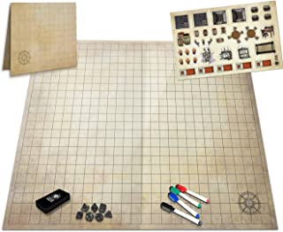 Melee Mats The Ultimate Battle Grid Game Board - 23x27 - Dry Erase Square & Hex RPG Miniatures Mat - Tabletop Role-Playing...
