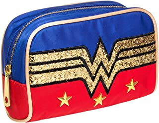 DC Comics Wonder Woman Glitter Logo Make-Up Bag