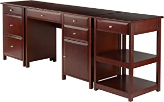 Winsome Wood Delta 3 Piece Home Office Set