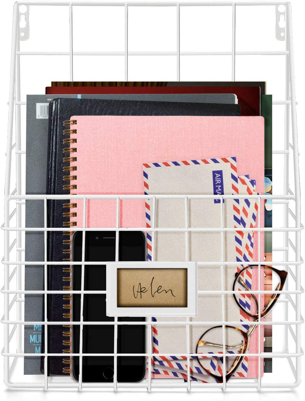 It is very popular Flexzion Wall half Mounted Magazine File Organizer for Rack Entryway