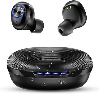 bakibo Auriculares Bluetooth 5.1, Inalámbricos Auriculares IPX7 Impermeable con USB C 27 Horas Caja de Carga Portátil, CVC...
