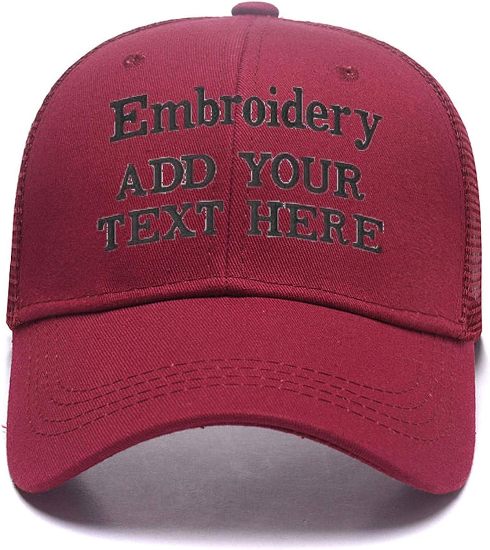 Custom Embroidered Baseball Caps Ponytail Messy High Bun Hat Ponycaps Adjustable Mesh Trucker Hats