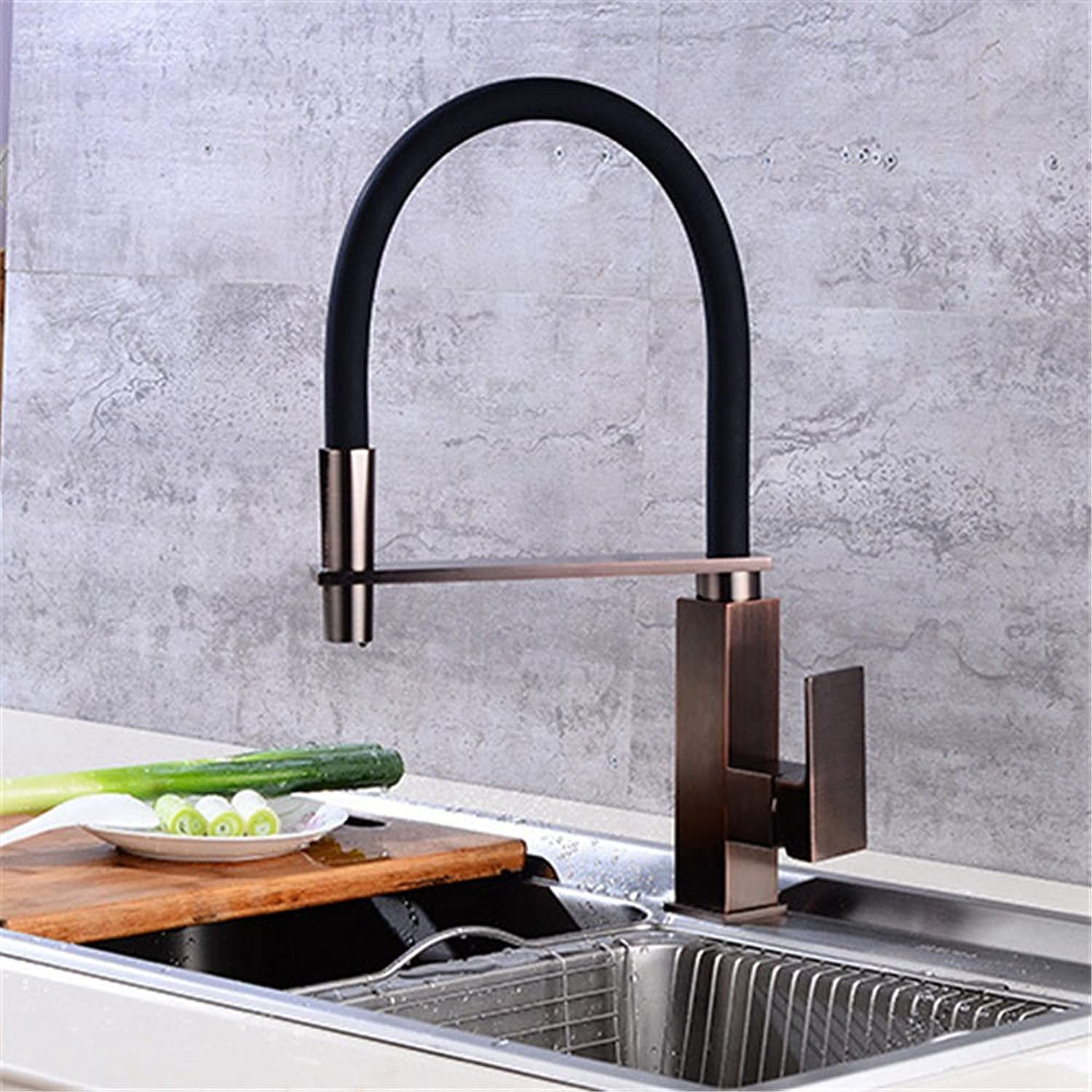 Gyps Faucet Single-Lever Washbasin Mixer Tap Spring Kitchen Tap Hot and Cold Water Tap D-redation Mixer Tap