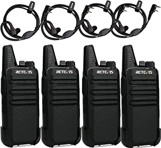 Retevis RT622 Walkie Talkie, Mini PMR446 Licencia Libre, 16 Canales CTCSS/DCS Radio Bidireccional, Escaneo Monitor VOX, Wa...