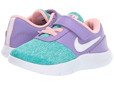 Nike Kids Flex Contact (Infant/Toddler) (Space Purple/White/Hyper Jade) Girls Shoes