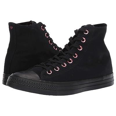 Converse Chuck Taylor(r) All Star(r) Hearts Hi (Black/Rhubarb/Black) Athletic Shoes